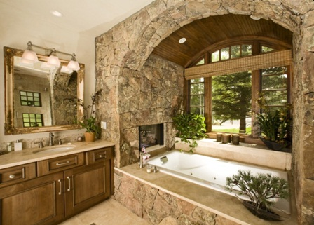 Beautiful Stonewall Washroom. Beautiful Stonewall Washroom   Overland Remodeling