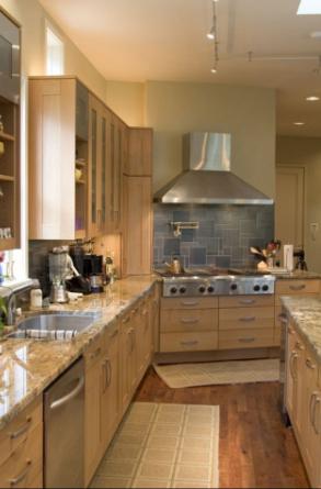 beverly hills green kitchen remodel
